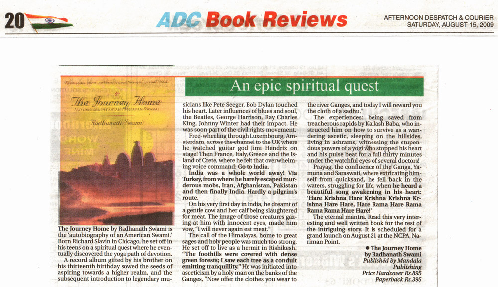 The Journey Home Review in AfternoonTimes, Mumbai