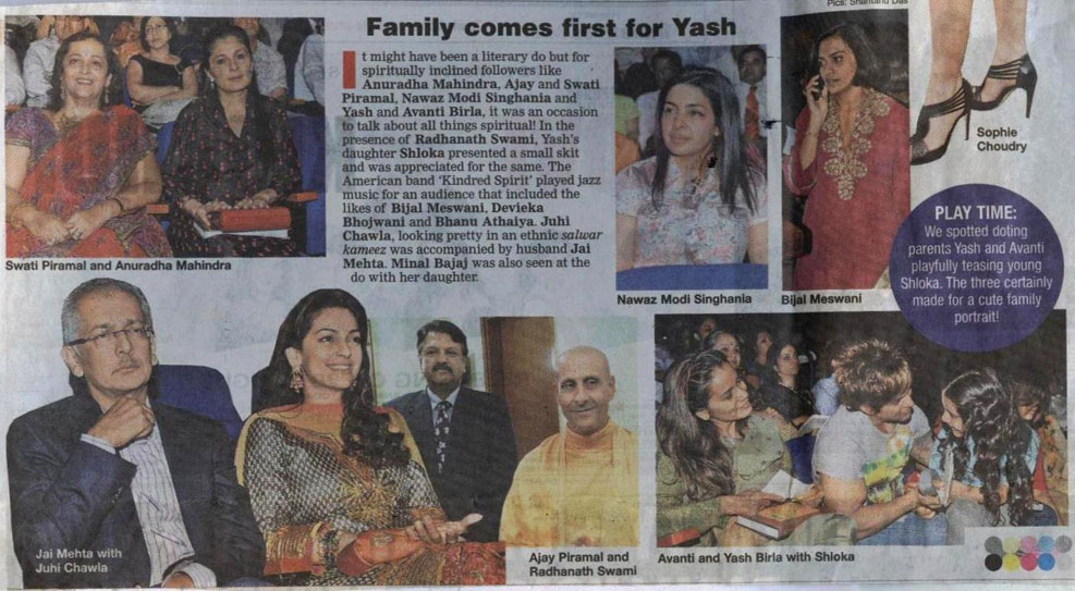 Radhanath Swami in Bombay Times, Mumbai