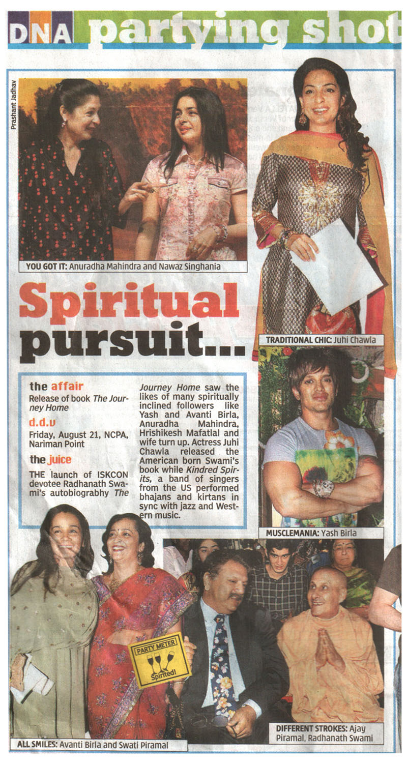 The Journey Home Book Launch in DNA, Mumbai