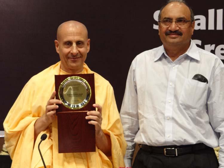 Radhanath swami with Rohit Patel