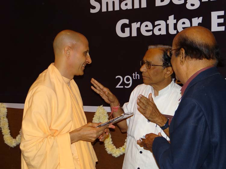 Radhanath swami at Ahmedabad Management Association