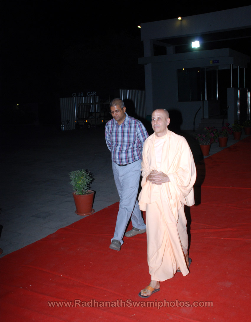 Radhanath Swami in Goenka International School, Surat