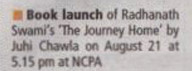 The Journey Home Book Launch in Mumbai Mirror