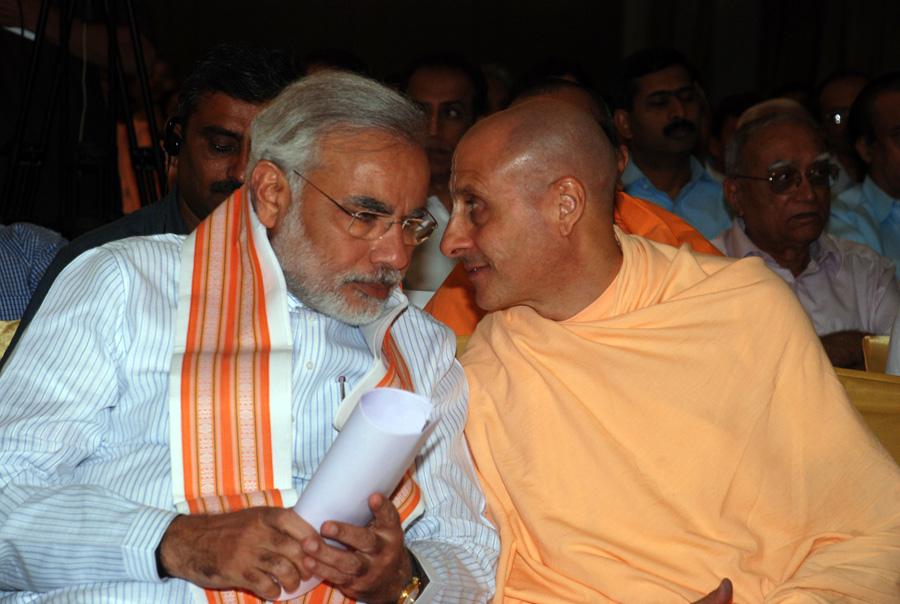 Narendra Modi Chief Minister with Radhanath Swami