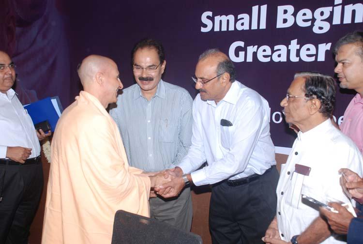 Radhanath Swami Meets Rohit Patel