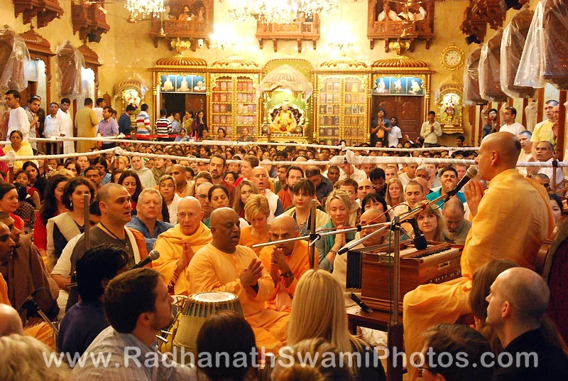 Radhanath Swami Giving a Lecture