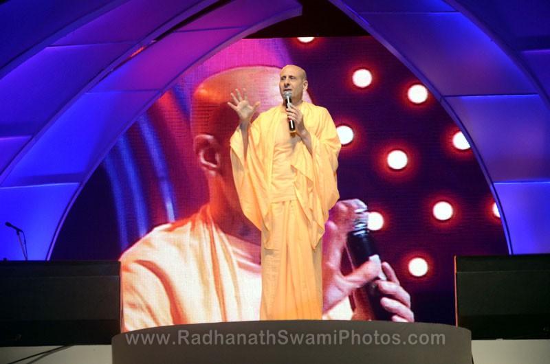 Talk by HH Radhanath Swami at Inspiro Event