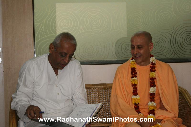 Radhanath Swami with Radha Krishna Prabhu