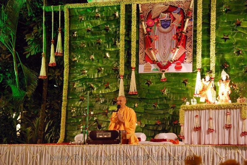 Radhanath Swami at Birla House