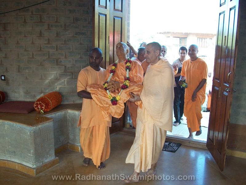 Radhanath Swami at Opening of Govardhan Ashram