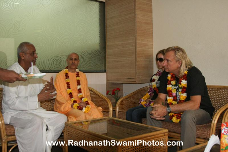 Radhanath Swami at Midday Meal Office
