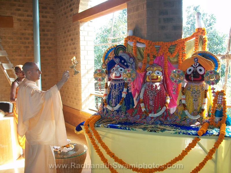Jagannath, Baladev and Subhadra Deities of Govardhan Ashram