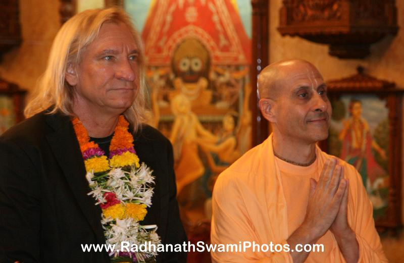 Radhanath Swami with Joe Walsh