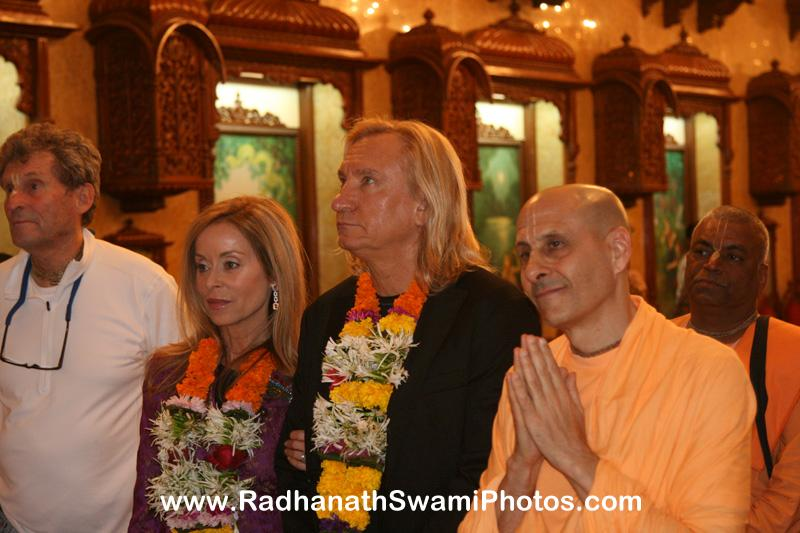 Radhanath Swami with Joe Walsh
