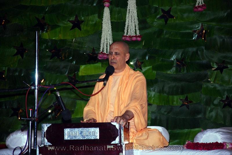 Radhanath Swami Singing at Birla House