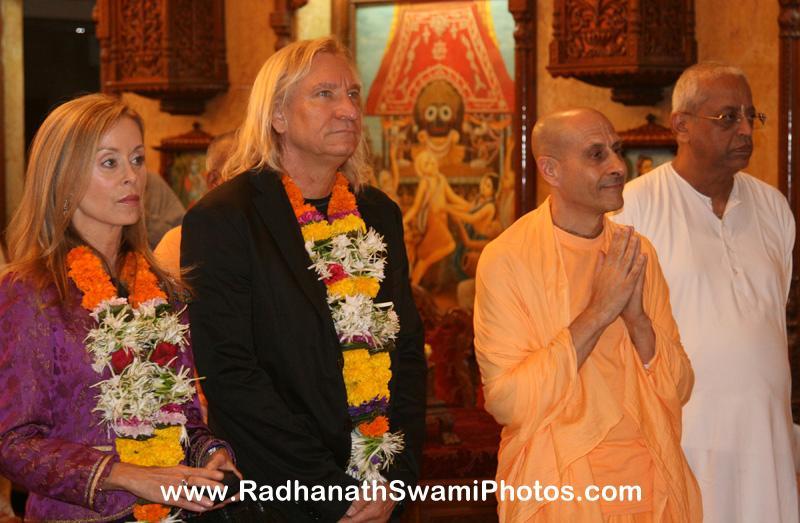 Radhanath Swami and Joe Walsh