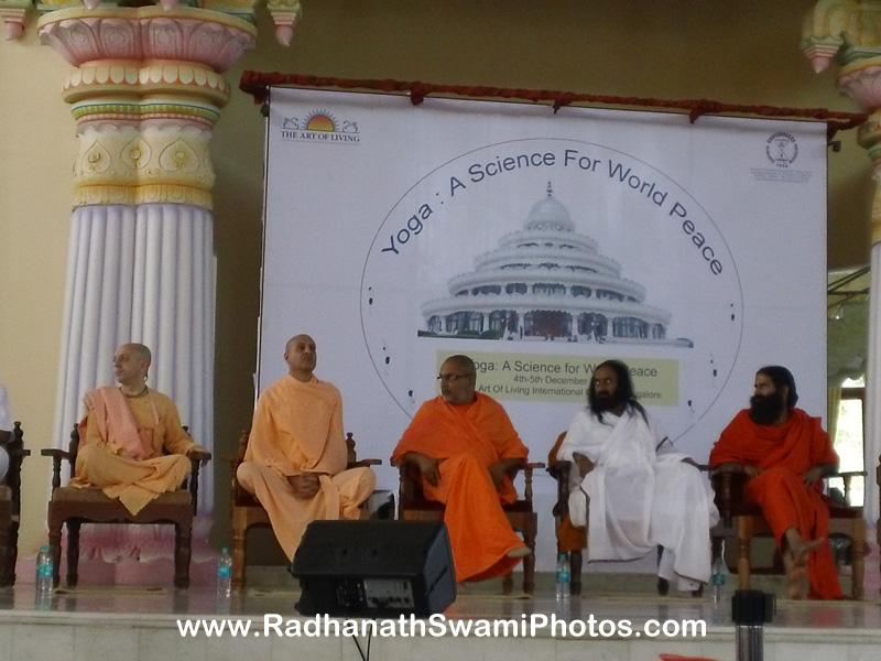 Radhanath Swami at Yoga Conference in Bengaluru
