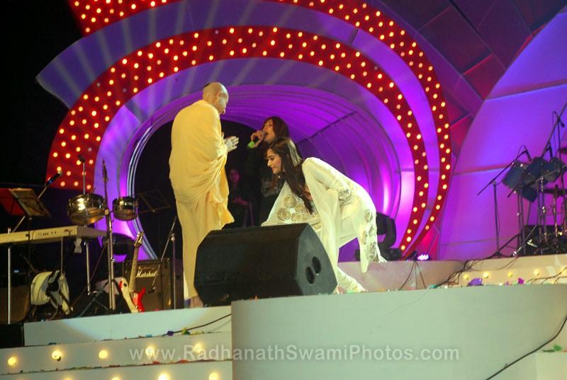 Radhanath Swami with Sonam Kapoor
