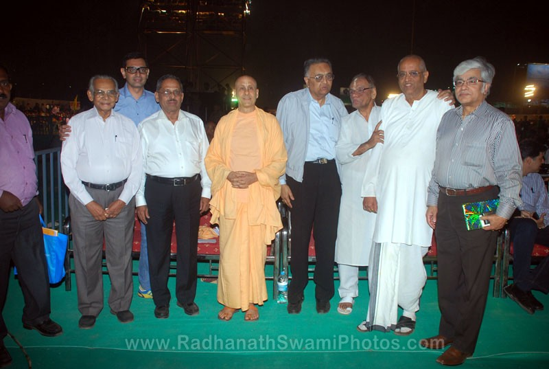 Radhanath Swami with Eminant Personalities