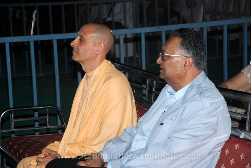 Radhanath Swami with N.D Desai