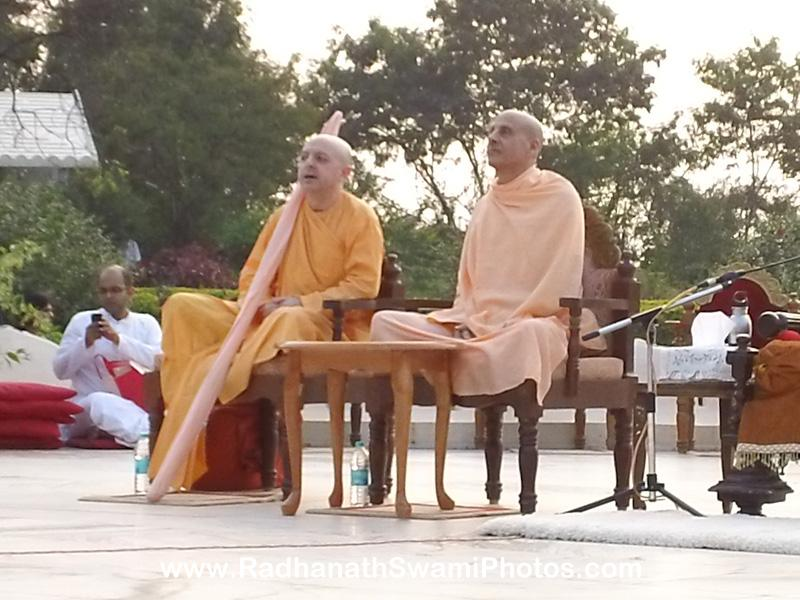 Radhanath Swami with Yadunandan Swami