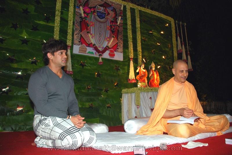 Radhanath Swami with Yash Birla