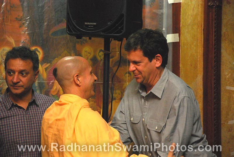 Radhanath Swami with a Guest