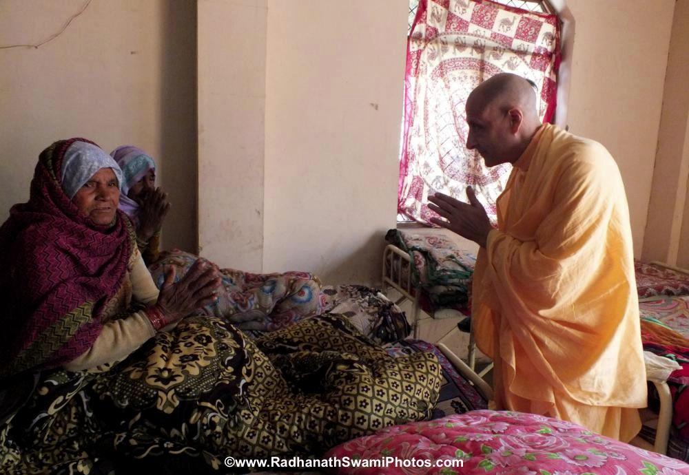 Radhanath Swami Visiting Patient