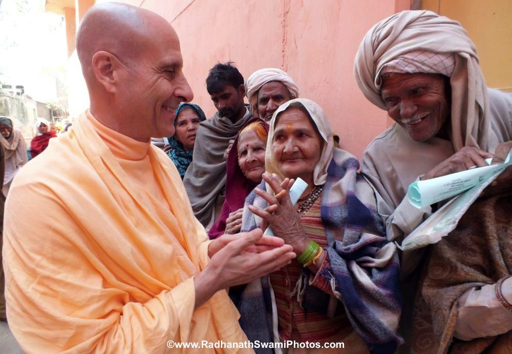 Radhanath Swami visiting Patients