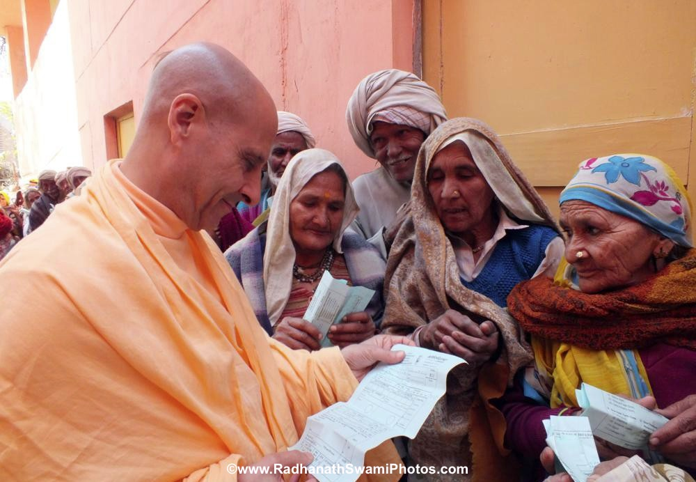 Radhanath Swami with Patients