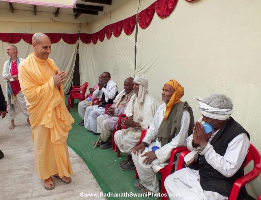 Radhanath Swami Visiting a Patients