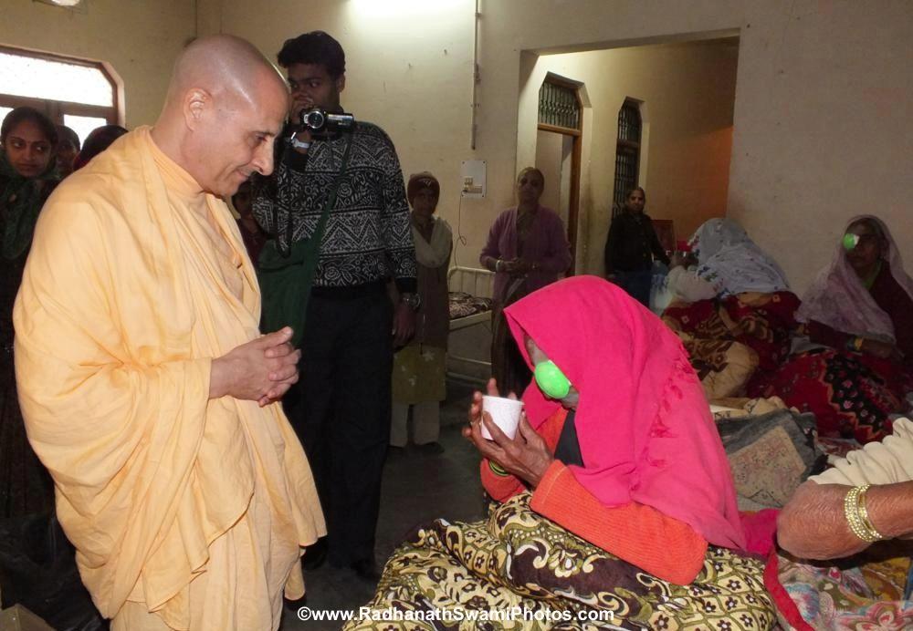 Radhanath Maharaj Visiting a Patient