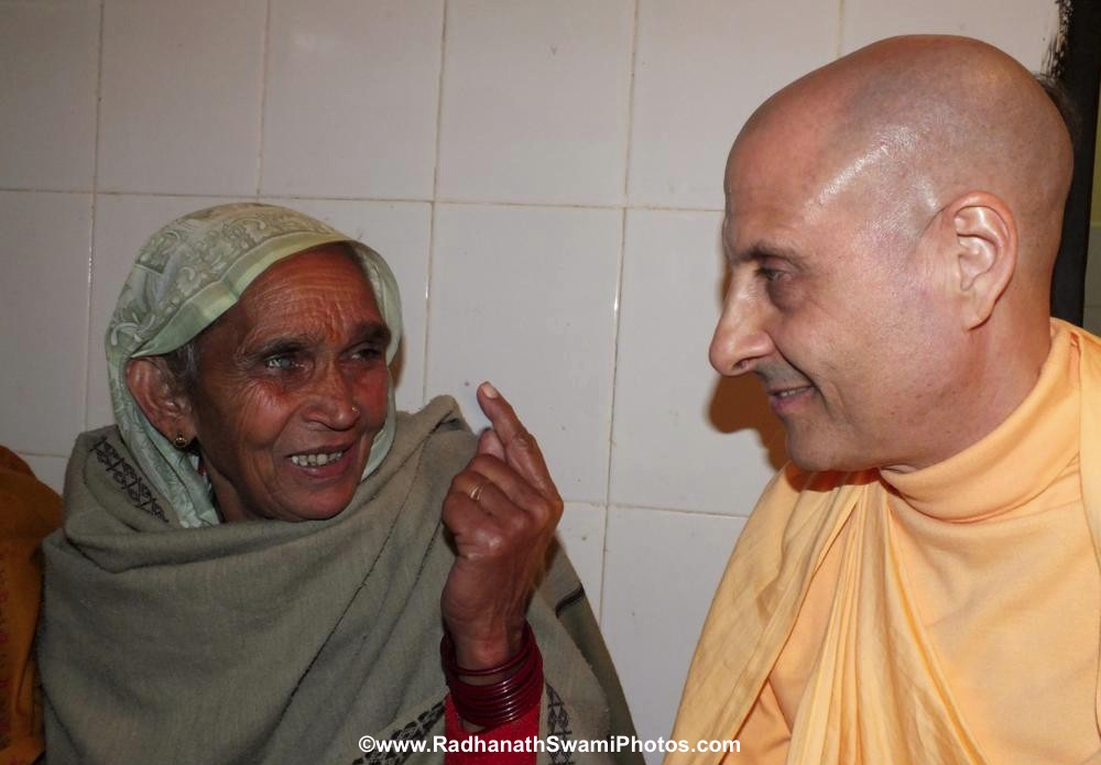 Radhanath Swami with Patient