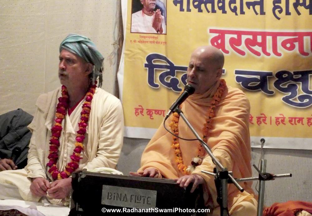 Kirtan by Radhanath Swami at Barsana