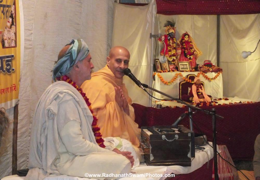 Shyamdas ji with Radhanath Swami