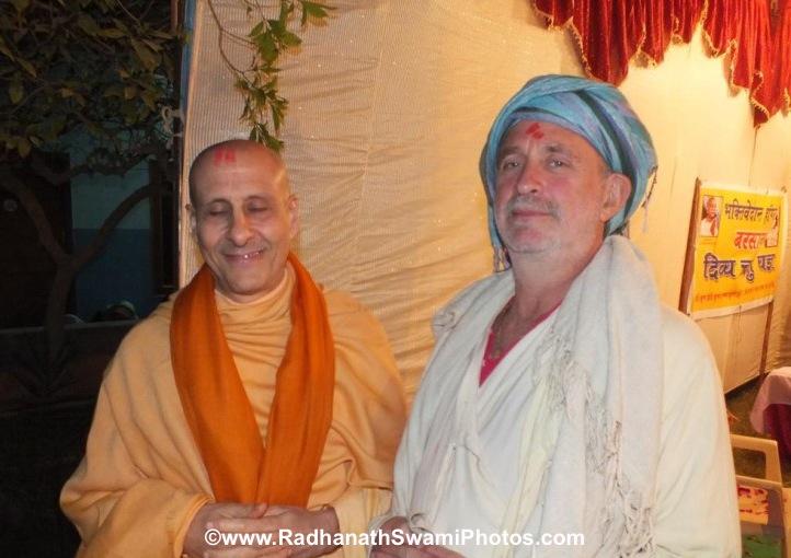 Radhanath Swami with Shyamdas ji