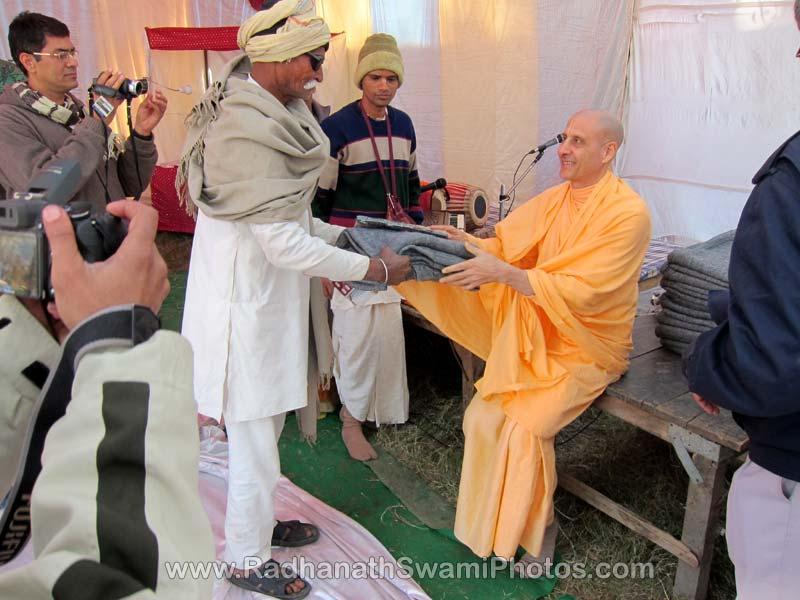 Radhanath Swami at Barsana Camp
