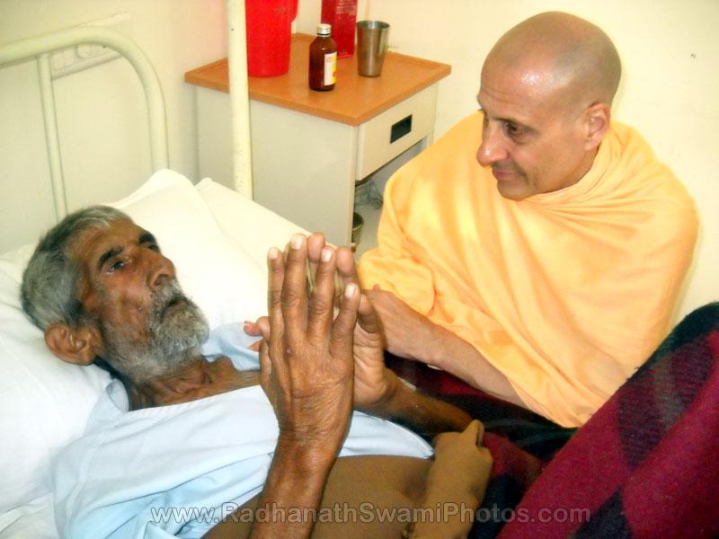 Radhanath Maharaj Visiting Patient