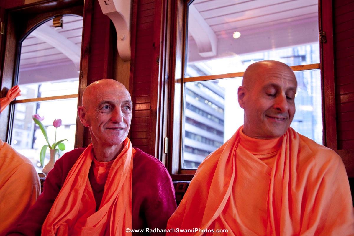 Dayananda Swami with Radhanath Swami