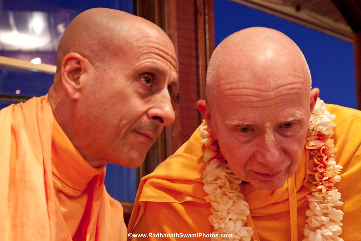 Chandramauli Swami with Radhanath Swami