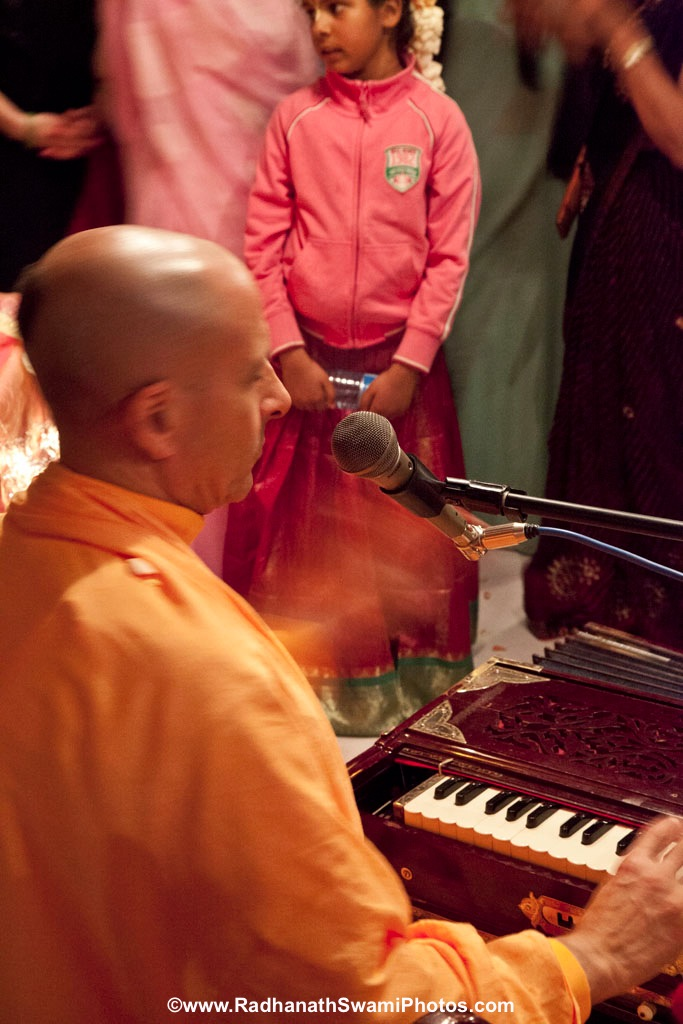 Radhanath Swami Leading a Kirtan in Boat