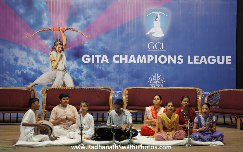 Kirtan by Devotees at GCL Prize Distribution