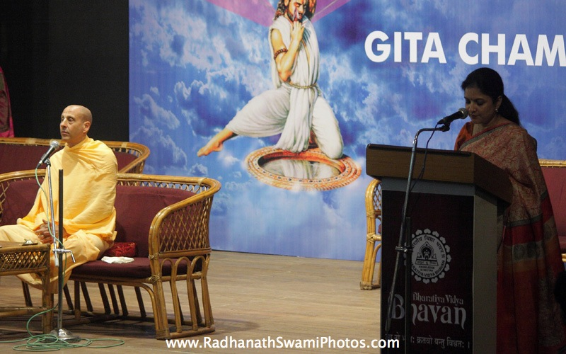 Radhanath Swami On Stage