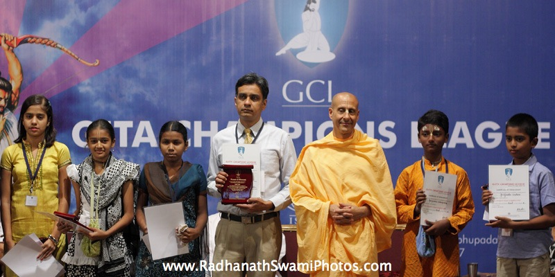 Radhanath Swami with GCL Winners