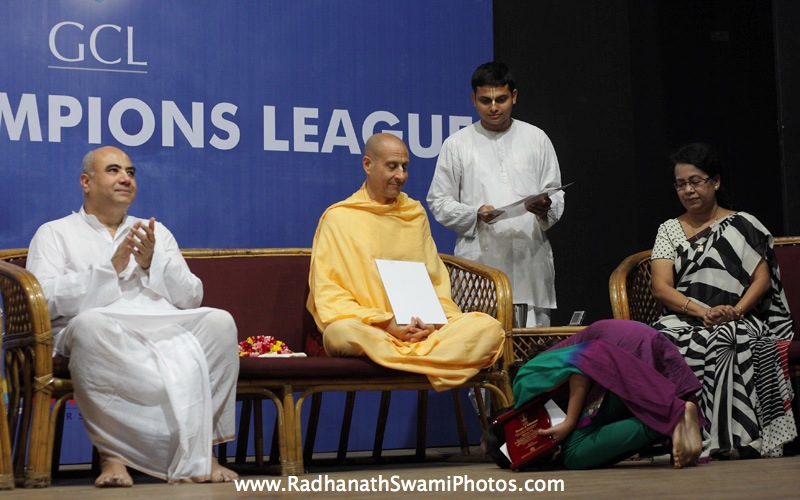Radhanath Swami at GCL Prize Distribution