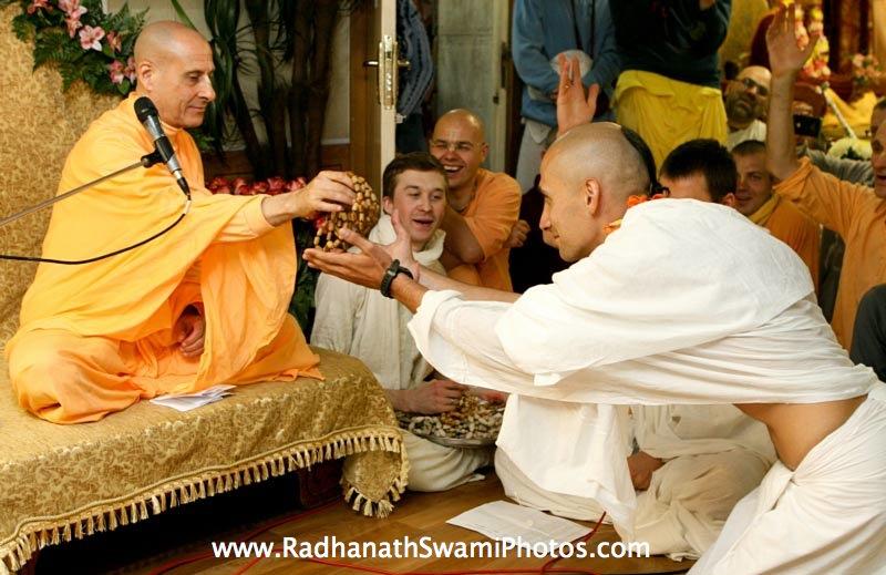 Radhanath Swami giving Initiation