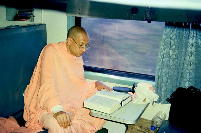 Radhanath Swami Reading Book