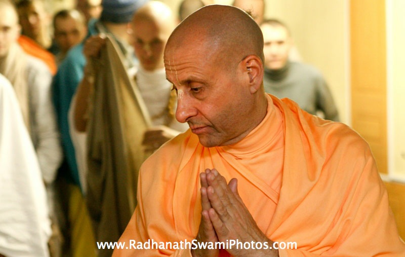 Radhanath Swami in Moscow
