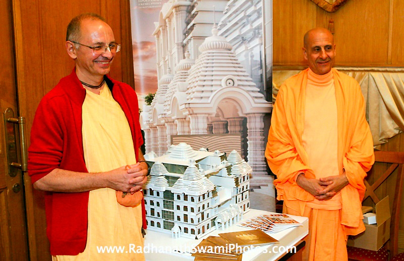 Radhanath Swami with Bhaktivijnana Swami