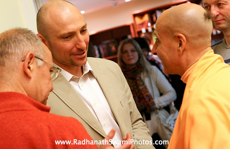 Radhanath Swami in Moscow Book Launch